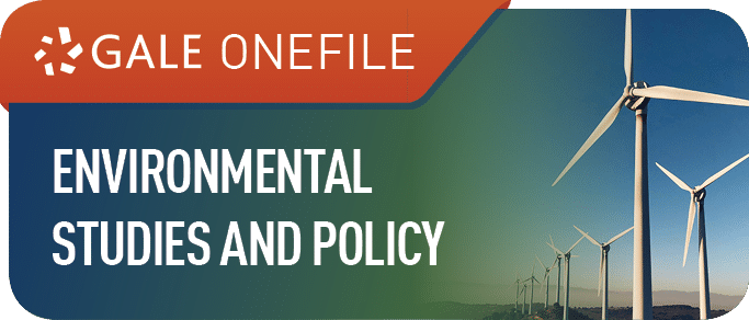 Gale Environmental Studies and Policy