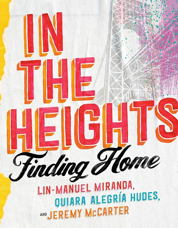 flyer for In The Heights author talk